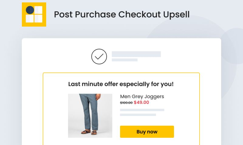 SpurIT - Post Purchase Checkout Upsell