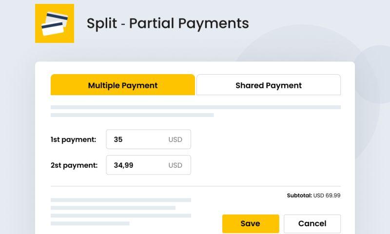 SpurIT - Split ‑ Partial Payments