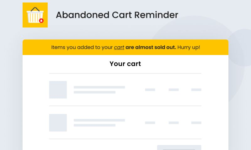 SpurIT - Abandoned Cart Reminder