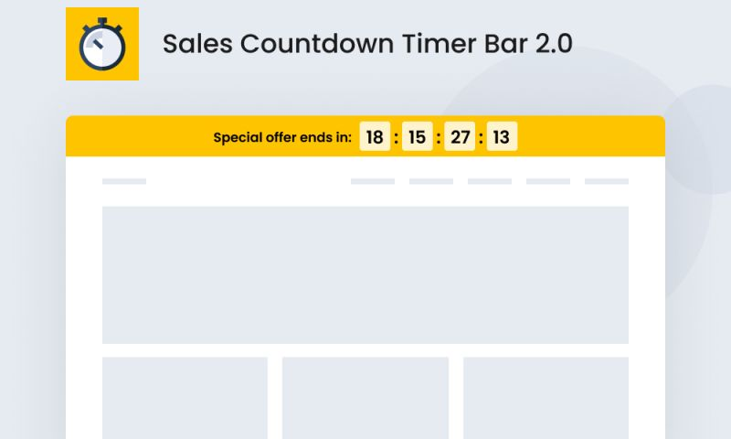 SpurIT - Sales Countdown Timer Bar 2.0