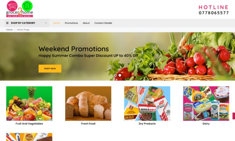 Cyber Concepts - Grocer to Home e-commerce WebSite