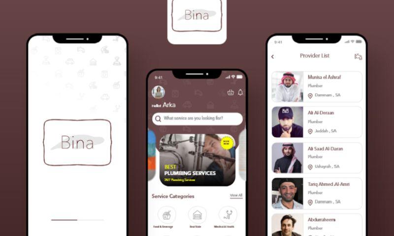Arka Softwares - Bina App - On-demand Service App
