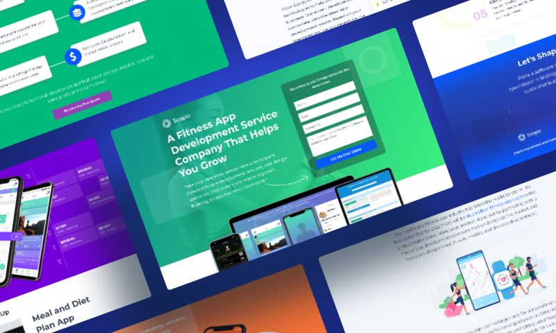 Scopic - Health and Fitness LP Web Design