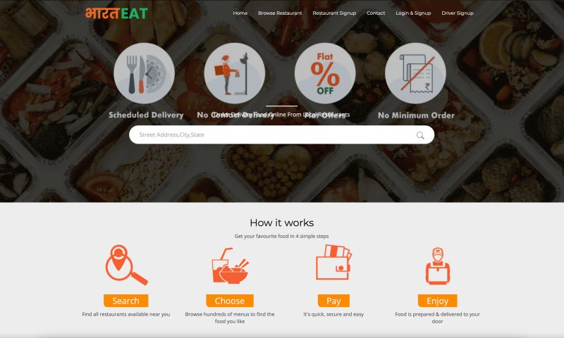 SimTechnos - BharatEat Food Delivery