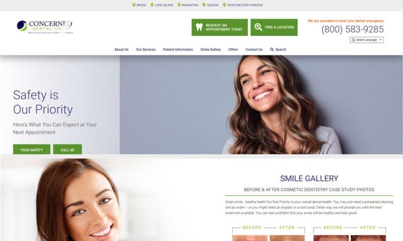 DoctorsInternet.com - Concerned Dental Care - Dental Website Design and Marketing
