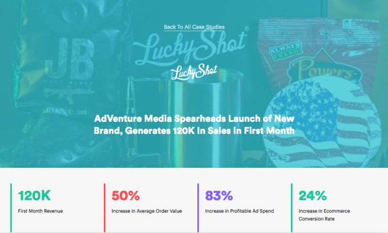 AdVenture Media Group - AdVenture Media Spearheads Launch of New Brand, Generates 120K In Sales In First Month
