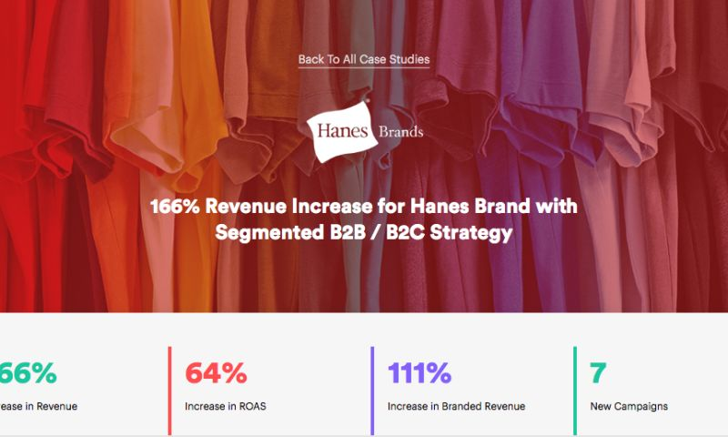 AdVenture Media Group - 166% Revenue Increase for Hanes Brand with Segmented B2B / B2C Strategy