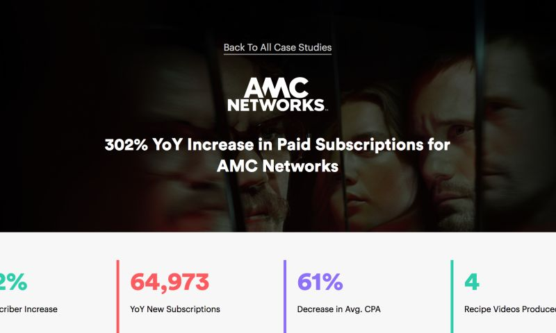 AdVenture Media Group - AMC Networks sees a 302% increase in paid subscriber YoY.