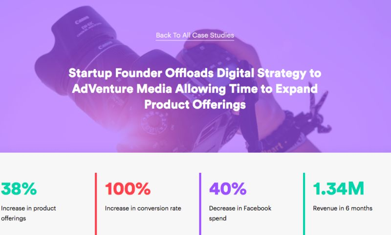 AdVenture Media Group - Startup Founder Offloads Digital Strategy to AdVenture Media Allowing Time to Expand Product Offerings