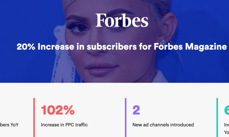 AdVenture Media Group - 20% Increase in paid subscribers for Forbes Magazine
