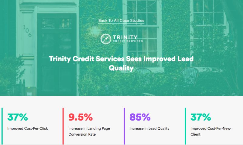 AdVenture Media Group - Trinity Credit Services Sees Improved Lead Quality