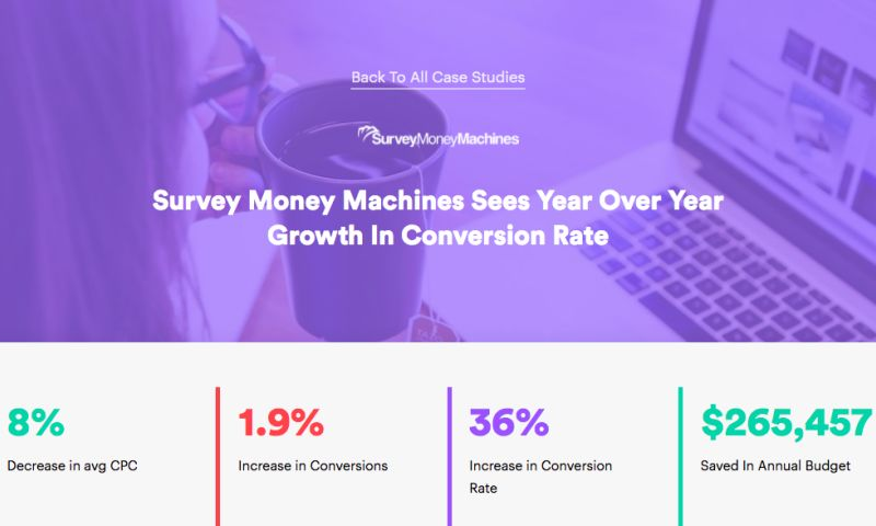 AdVenture Media Group - Survey Money Machines Sees Year Over Year Growth In Conversion Rate