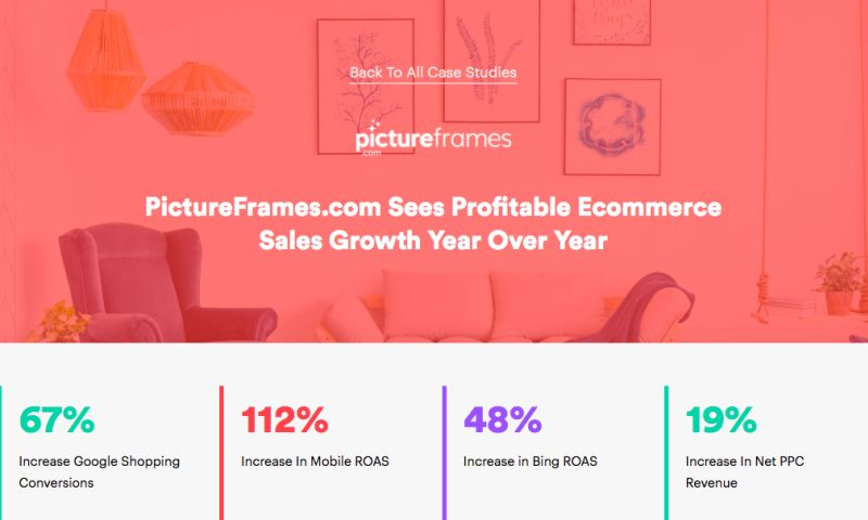 AdVenture Media Group - PictureFrames.com Sees Profitable Ecommerce Sales Growth Year Over Year