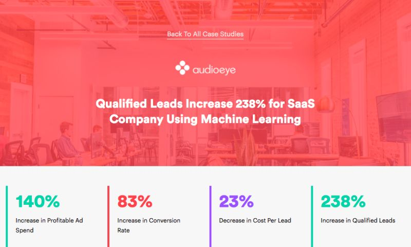 AdVenture Media Group - Qualified Leads Increase 238% for SaaS Company Using Machine Learning