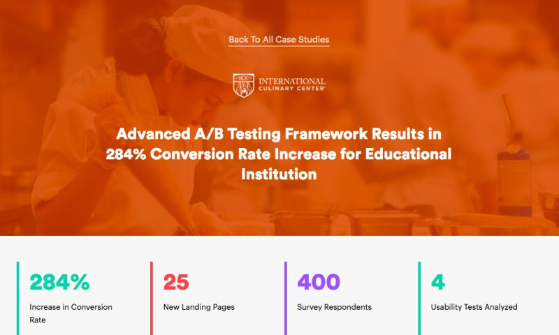 AdVenture Media Group - Advanced A/B Testing Framework Results in 284% Conversion Rate Increase for Educational Institution