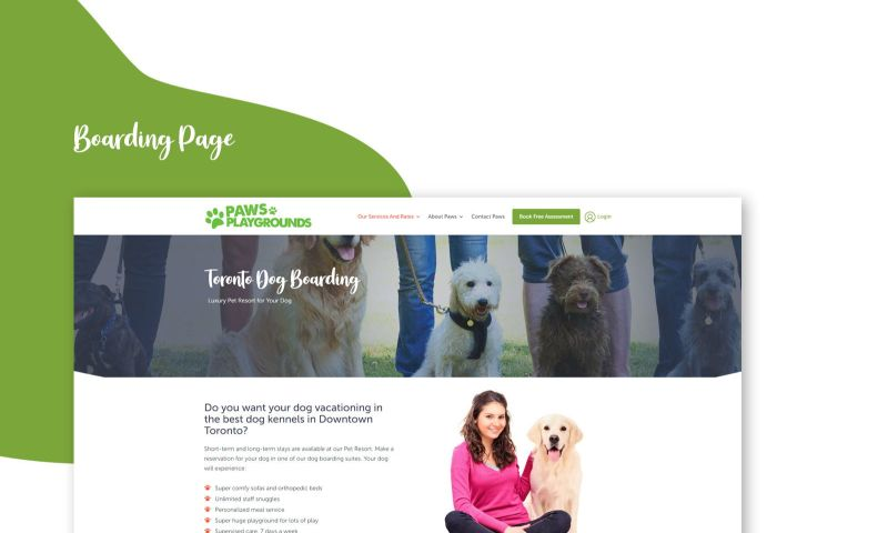 The Story Web Design & Marketing - Paws Playgrounds