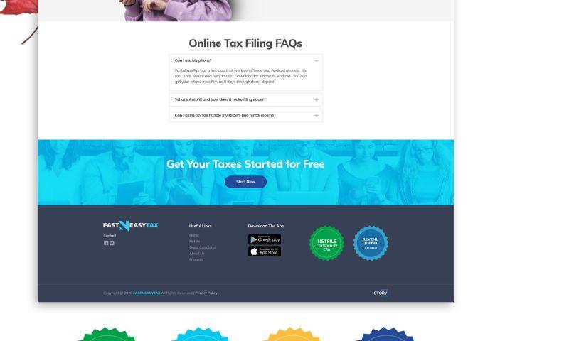 The Story Web Design & Marketing - FastnEasy Tax
