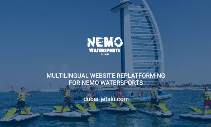 Aurora - Multilingual website replatforming for Nemo Watersports