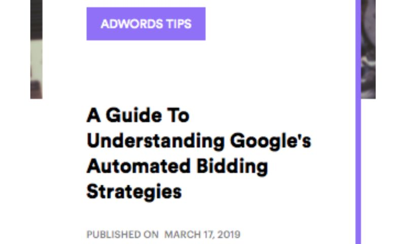 AdVenture Media Group - A Guide To Understanding Google's Automated Bidding Strategies