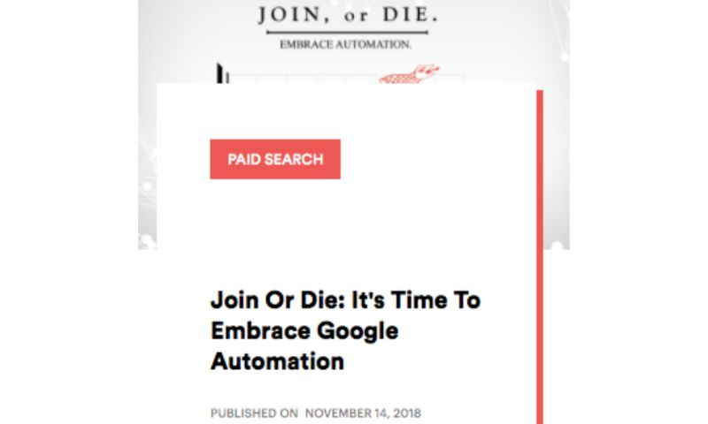 AdVenture Media Group - Join or Die: It's Time To Embrace Google Automation