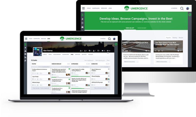 SumatoSoft - Umergence - Unique Crowdfunding and Project Management Platform