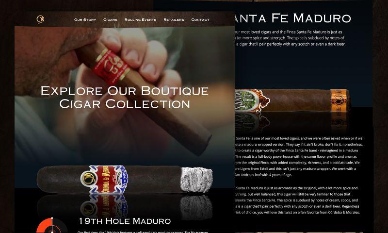 CreativeOwl - Córdoba & Morales Boutique Cigars Website Design