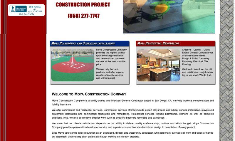 Dia Creative - Moya Construction Website Redesign