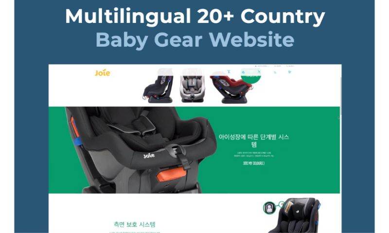 Curotec - Joie International Multilingual 20+ Country Baby Gear Website