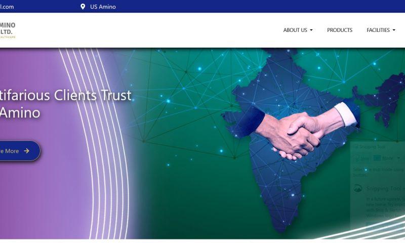 CorpCrush - Web Design For U.S. Amino Private Limited