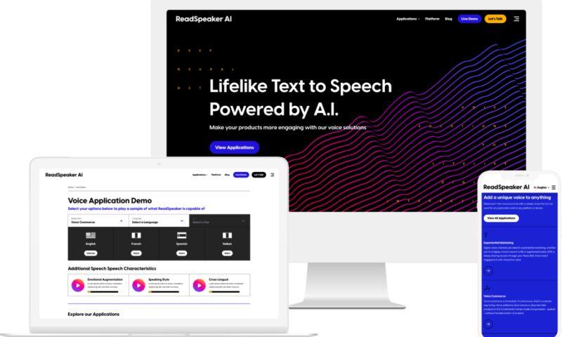 GoingClear - B2B Website Redesign for Enterprise AI Text to Speech Software