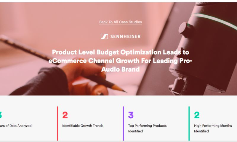 AdVenture Media Group - Product Level Budget Optimization Leads to eCommerce Channel Growth For Leading Pro-Audio Brand
