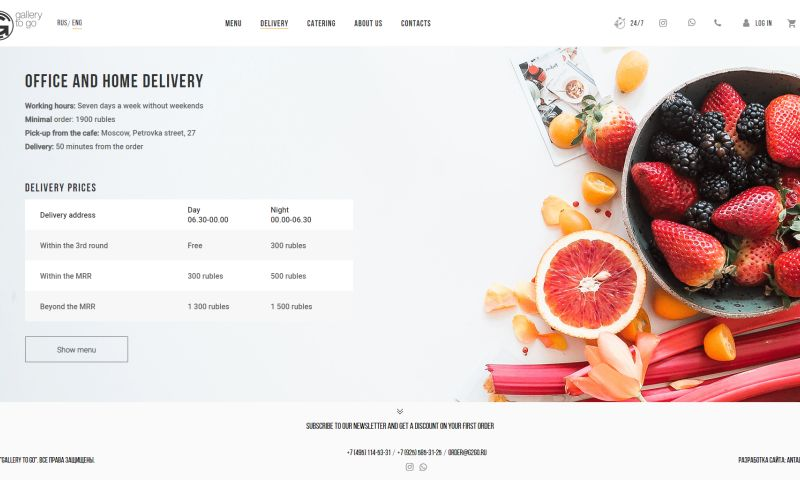Antalogic - Food delivery eCommerce project