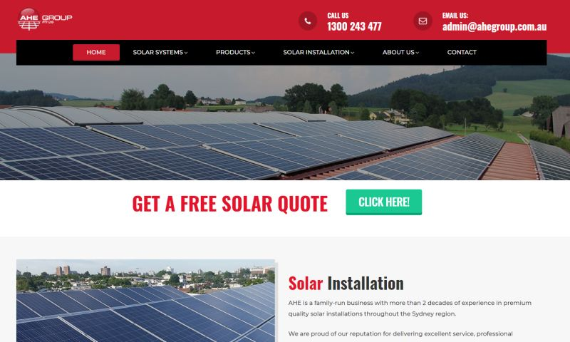 SpecScale - Solar Power System Company Website