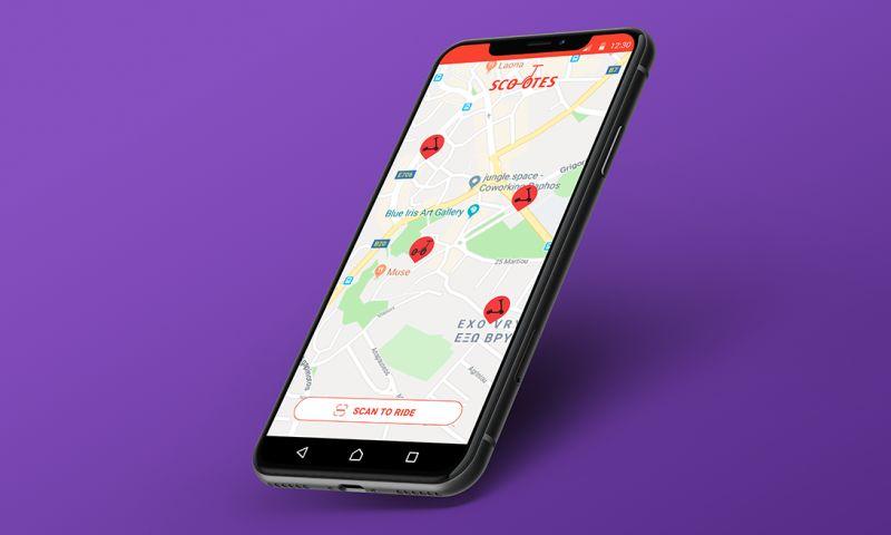 TRIARE - E-scooter rental app development