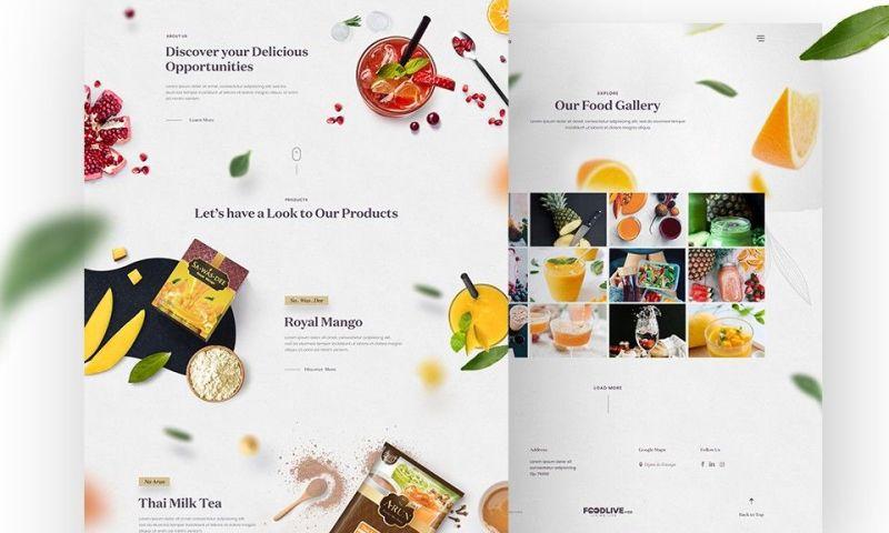 Mayabytes - FoodLive - Web Design & Custom Development
