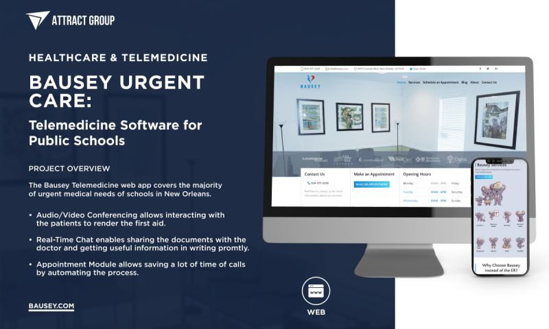 Attract Group - Bausey Urgent Care - Telemedicine for Schools