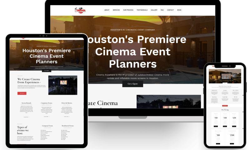 URBN Web Design - Cinema Anywhere Franchise Web Design