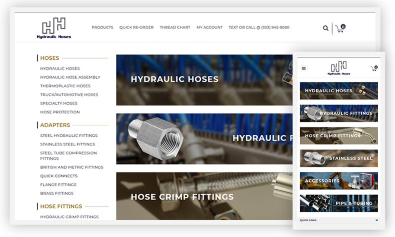 WebDesk Solution LLC - Hydraulic Hoses