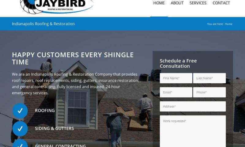 Website Design by Doug Walker - Jaybird Roofing