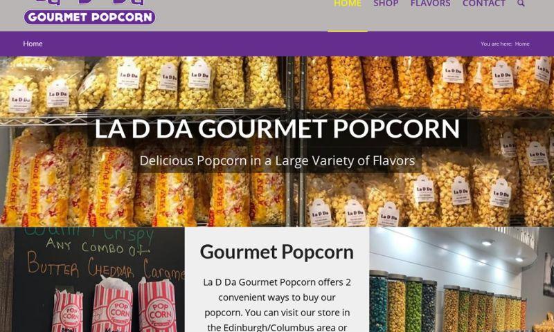 Website Design by Doug Walker - La D Da Gourmet Popcorn