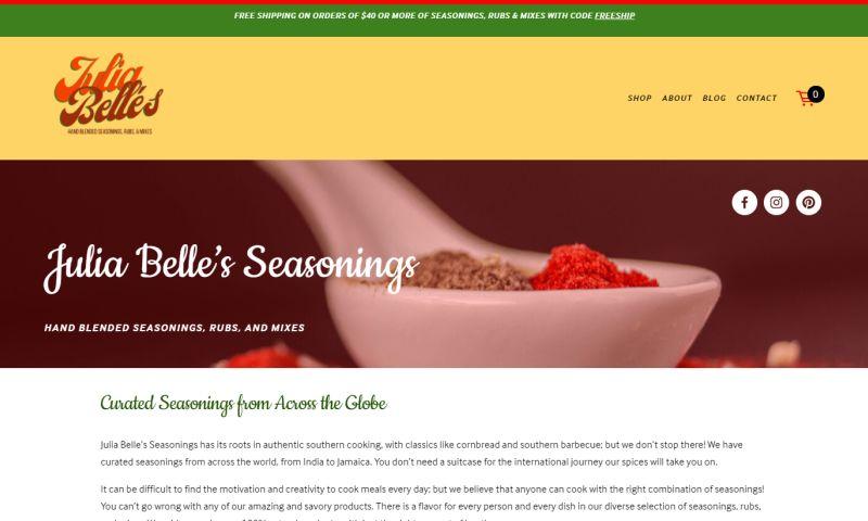 Marketing Juice - Julia Belle's Seasonings