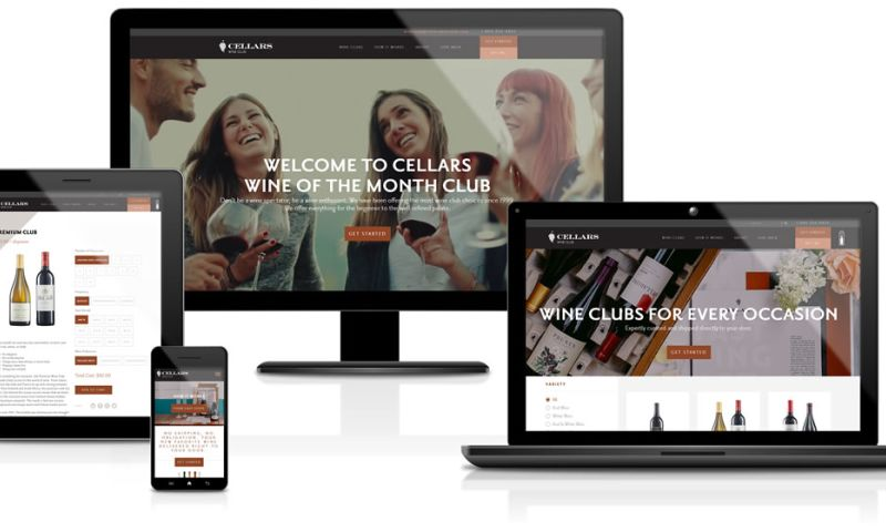 Sandcastle Web Design & Development - Cellars Wine Club
