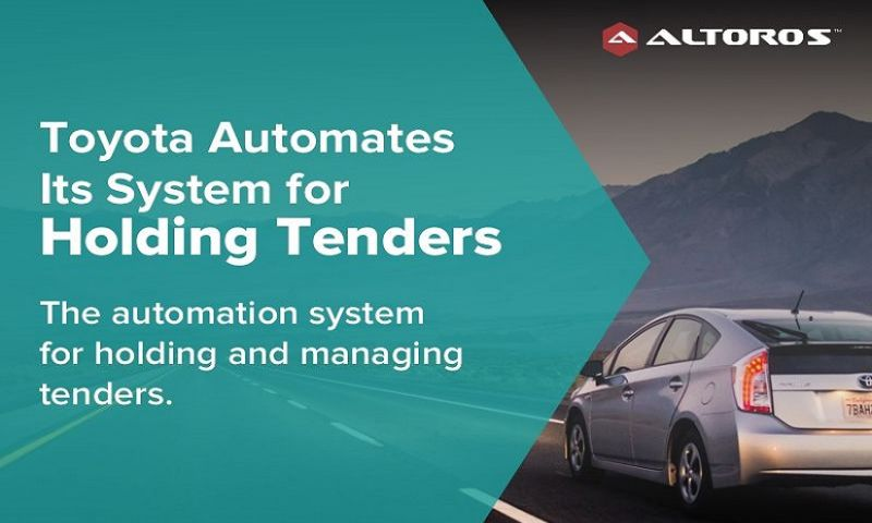 Altoros Labs - Toyota Automates Its System for Holding Tenders