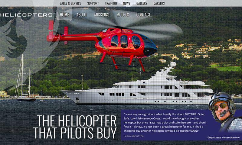 Avenue 25 - MD Helicopters (Web Development, Custom Integrations, Branding)