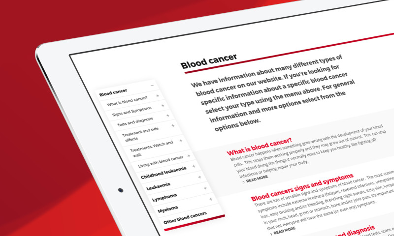 Brand42 - All new digital experience for leading Blood Cancer Research Charity
