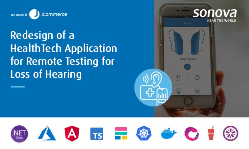 JCommerce - Redesign of a Healthtech Application for Remote Testing for Loss of Hearing