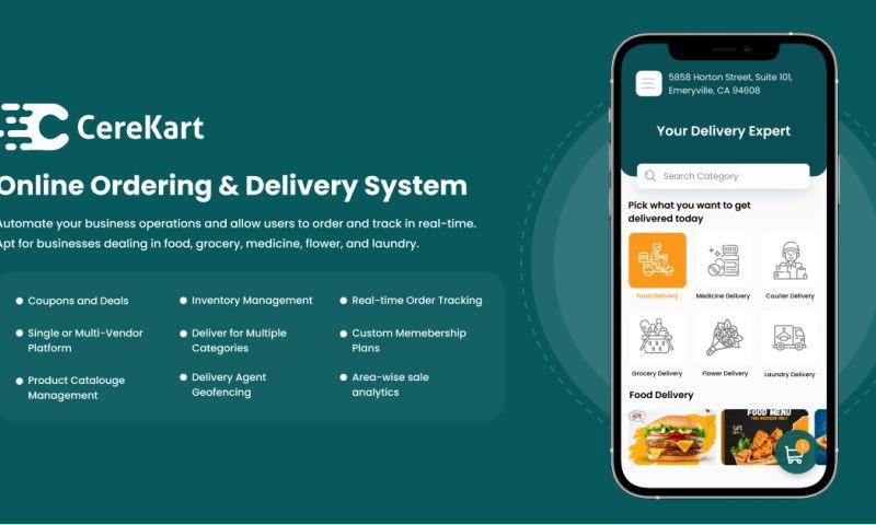 Cerebrum Infotech - CereKart - Online Ordering & Delivery System