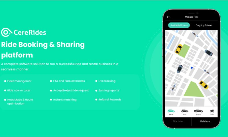 Cerebrum Infotech - CereRides - Ride Booking & Sharing platform