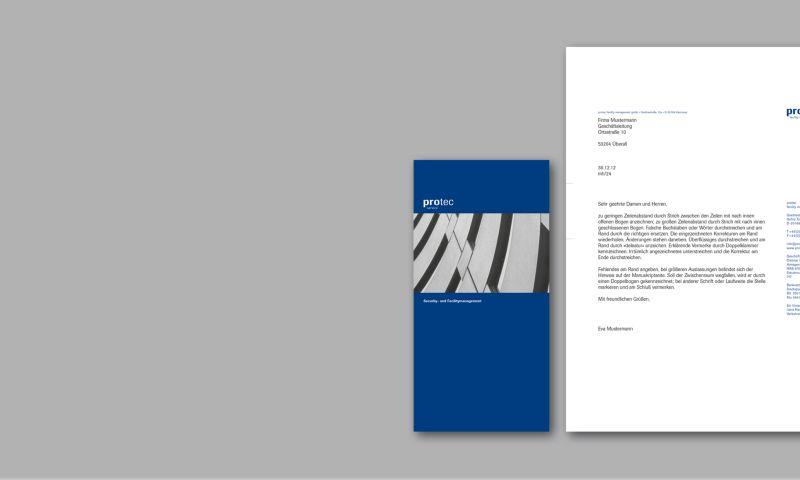 f/p design - protec / logo & stationery design