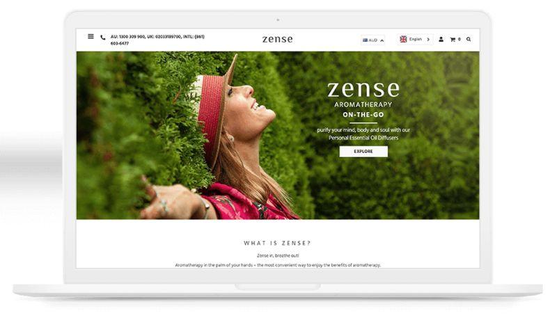 Elsner Technologies - Zense Shopify Website
